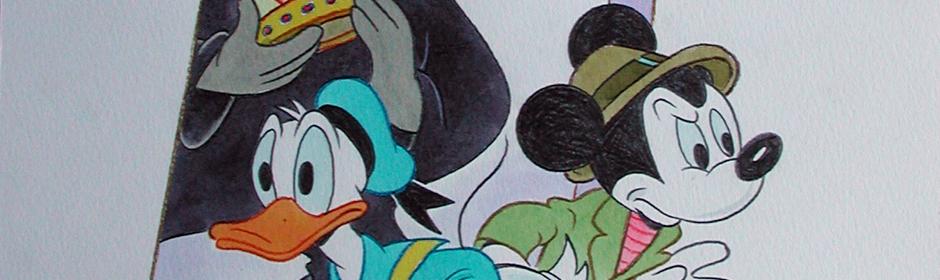 William Van Horn Donald Duck, Mickey Mouse and the Phantom Blot! Original Painting.jpg