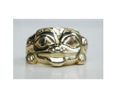 1976 Northwest Coast Haida Indian Bill Reid 1920-1998 18K Gold Ring GRIZZLY BEAR Ltd Ed 3/10