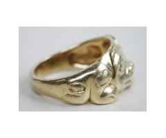 18K Gold Grizzly Bear Ring Northwest Coast Haida Indian Bill Reid 1976 Limited Edition 8/10 Size 12