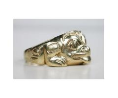 18K Gold Grizzly Bear Ring Northwest Coast Haida Indian Bill Reid 1976 Limited Edition 8/10 Size 12