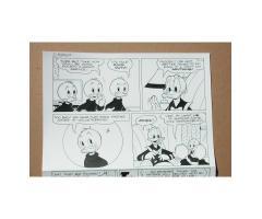 Original Comic Book Art Ink Page 2 Walt Disney's Donald Duck Mr Jones WDC&S #719