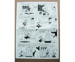 Original Comic Book Art Ink Page 4 Walt Disney's Donald Duck Walt Disney's Comics and Stories #719