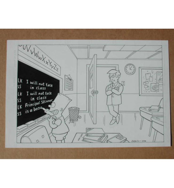 Bart Simpson & Principal Skinner 2002 Original Comic Book Art