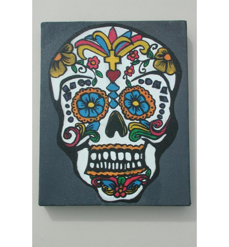 Michelle Sykes Daisy Skull Day of the Dead
