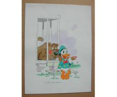 William Van Horn Donald Duck Original Painting