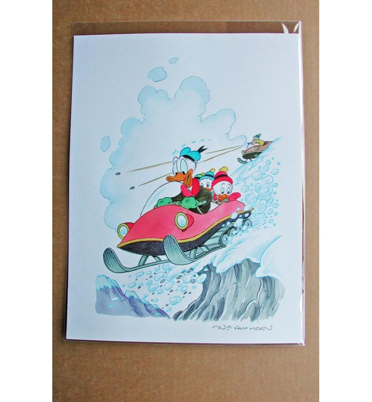 William Van Horn Donald Duck, Huey, Dewey and Louie Original Cover Painting