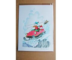 William Van Horn Donald Duck, Huey, Dewey and Louie Original Cover Painting