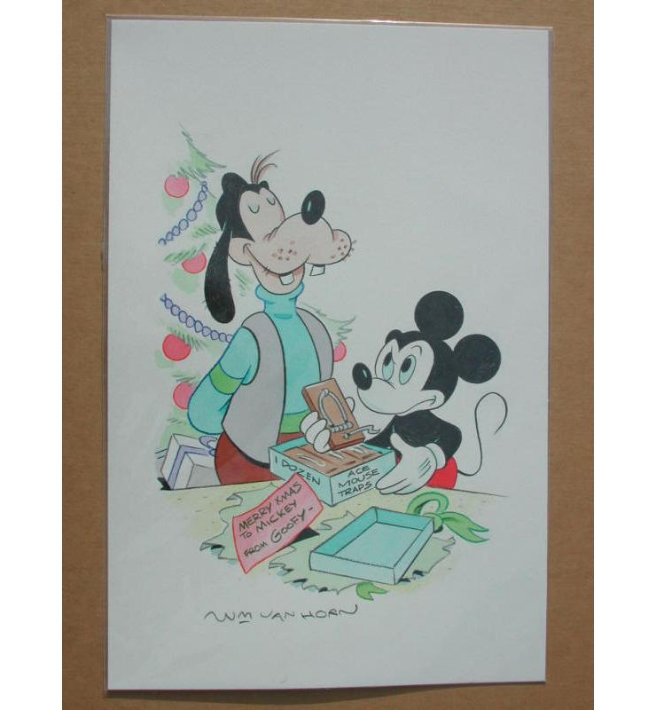 William Van Horn Mickey Mouse & Goofy Original Painting