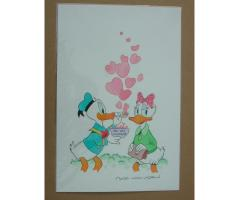 William Van Horn Donald and Daisy Duck Original Painting
