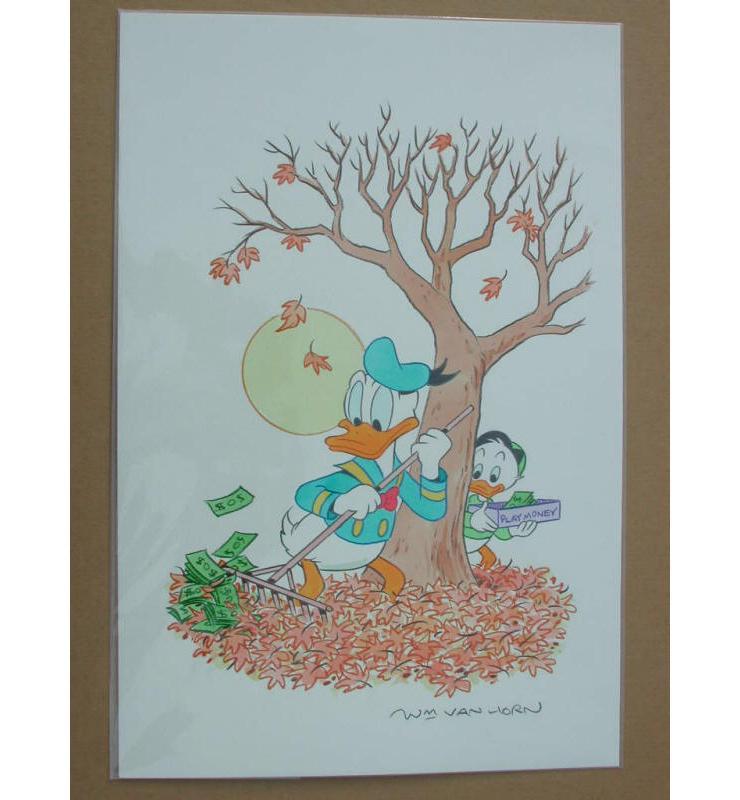 William Van Horn Donald Duck Original Painting