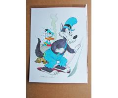 William Van Horn Donald Duck and Bad Wolf Original Painting