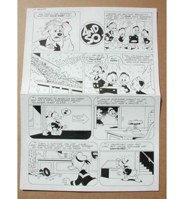 1996 Ink Page 4 Walt Disney's Original Comic Book Art UNCLE SCROOGE #298