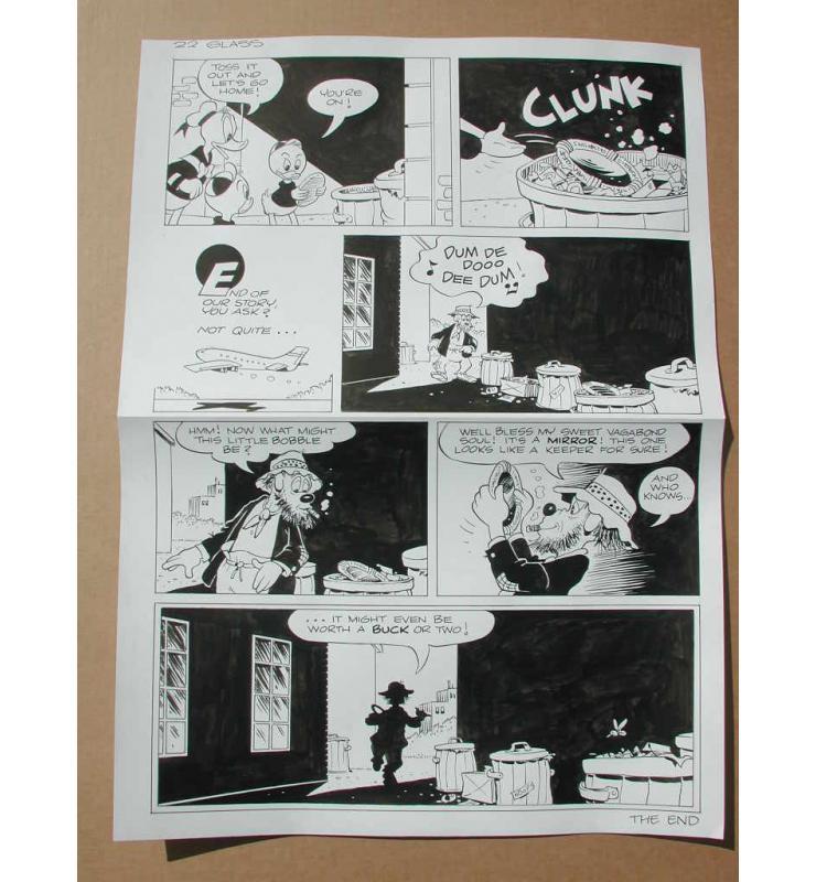 Ink Page 22 Walt Disney's Original Comic Book Art Uncle Scrooge Last Page of Story