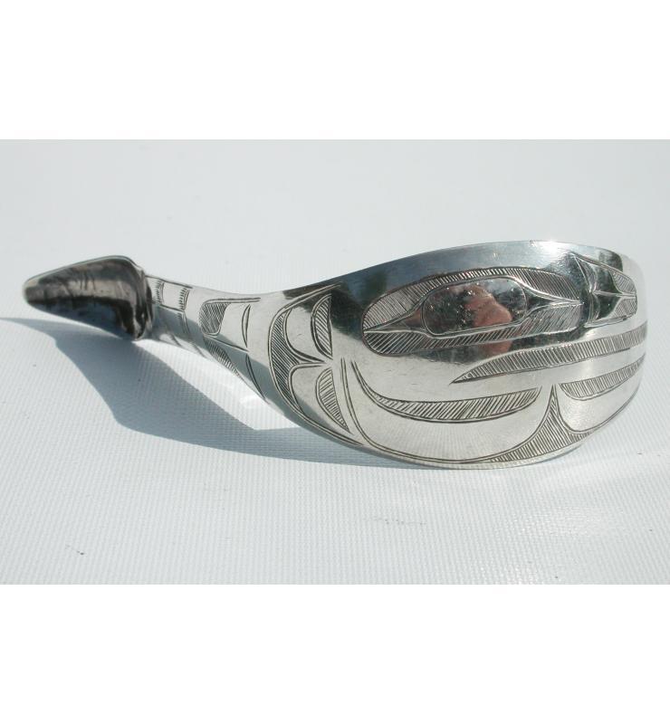 Charles Edenshaw 1839-1920 Haida Raven Silver Spoon