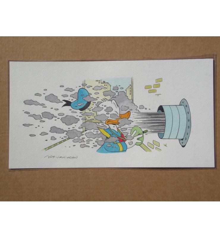 Donald Duck BIG Panel Painting Walt Disney's Comic Book Art William Van Horn b1939